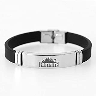 Fortnite Fashion Men Women Bracelet Adjustable Stainless Steel Silicone Wristband Unisex Couple Bracelet