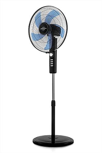 Orbegozo SF 1045 - Ventilador de pie, 3 velocidades, temporizador, función oscilante, 5 aspas, 80 W