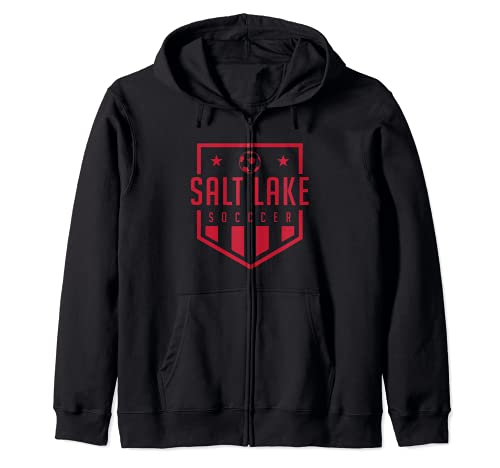 Salt Lake City Soccer Apparel Futbol Jersey Kit Badge Match Zip Hoodie