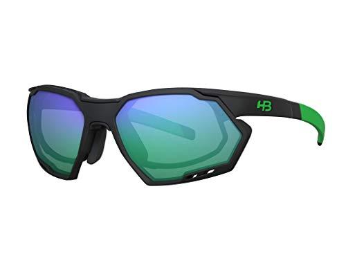 Armações para óculos de grau, Rush, HB, Unissex, Preto/Verde Mate, único