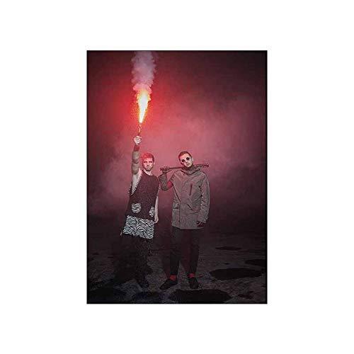 DNJKSA Impresiones de Carteles Arte Lienzo Pintura Bombas de Humo y bengalas Cuadros de Pared Sala de Estar decoración del hogar-60x90cm sin Marco 1 Uds