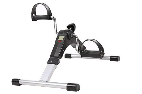 Mini Bicicleta Estática Plegable - Pedales Estáticos Ejercicio - Aparato de Ejercicio en Casa - Máquina Pedalear Manos y Piernas (GRIS MINI BICICLETAS)