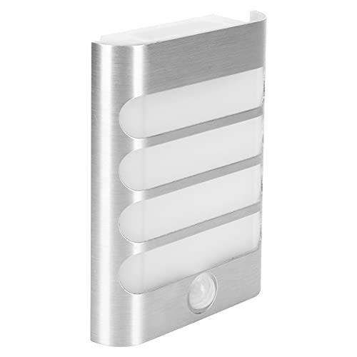 Lámpara de pared de inducción - Lámpara de pared de luz nocturna con sensor de movimiento inalámbrico LED para sala de estar Pasillo Pasillo Plata