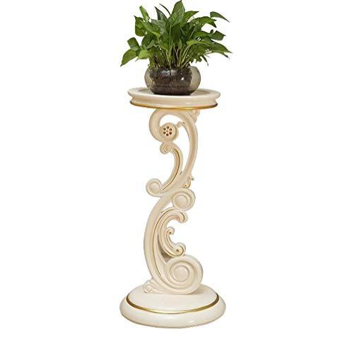 QI-shanping Flor Europea Soporte de Suelo de Niveles múltiples de la Sala Balcón Simple imitación de Flor de Madera Puesto de Flores Verde Blanco Marfil Americana Soporte 32X80X40cm