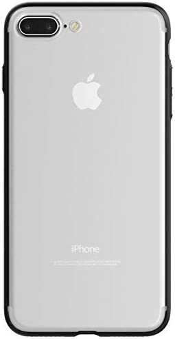 Kit Me Out World Clear Hybrid Series Case Designed for iPhone 7 Plus/iPhone 8 Plus Case, Transparent Hard (PC) Back and Black TPU Bumper Protection Shockproof Case Cover (Ultra Clear)