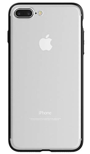 Kit Me Out World Cover Custodia Protettiva Ibrida per iPhone 7 Plus/iPhone 8 Plus, con Retro in PC Rigido Trasparente e Bordi Neri in TPU Resistente agli Urti - Ultra Trasparente