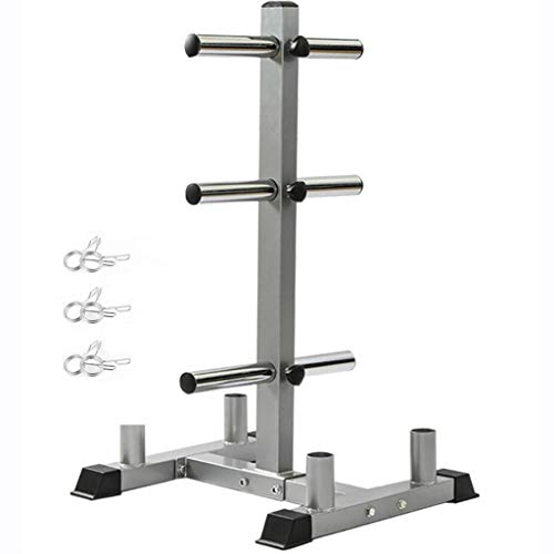 Printasaurus 2In Weight Plate Rack Tree Olympic Weight Organizer Storage Stand with 6 Circlip