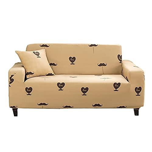 WXQY Funda de sofá elástica Funda de sofá de Sala de Estar, Funda de sofá elástica seccional, Funda de sillón en Forma de L A4 4 plazas
