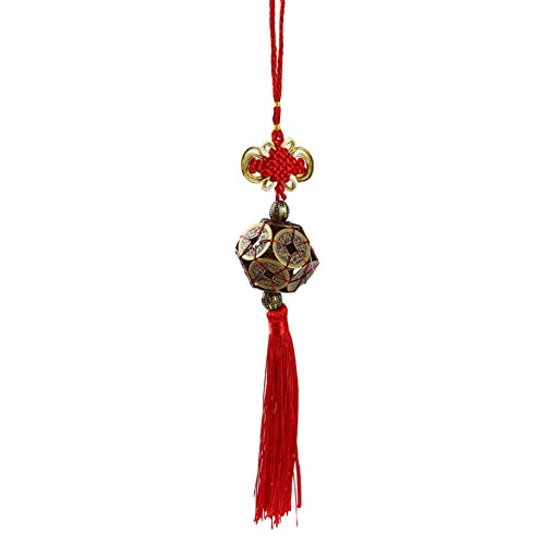FSXZM Chinesische Knoten alte Münzen Charme Maskottchen Kaiser Geld Auto Auto Anhänger Dekoration Feng Shui Kleiderbügel Glück Ornamente