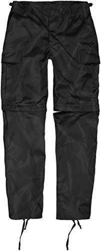 normani Zip Off BDU Feldhose mit per Reißverschluss abtrennbaren Hosenbeinen Farbe Schwarz Größe XL