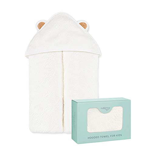Natemia Extra Soft Rayon from Bamboo Baby Hooded Towel | Super Absorbent and Hypoallergenic | Sized for Infant and Toddler