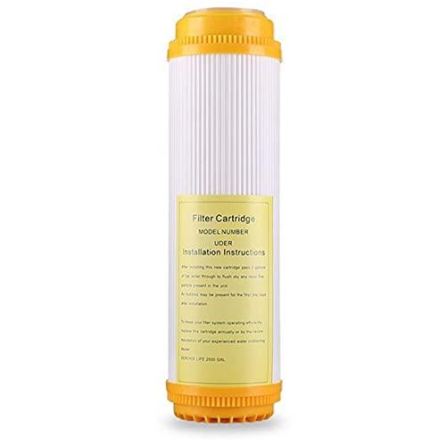 Deesen Cartucho de Filtro de Resina de 2 Piezas de 10 Pulgadas Intercambio de Iones de Agua Pura Ablandada Que Elimina el Purificador de Agua Alcalina/DescalcificacióN