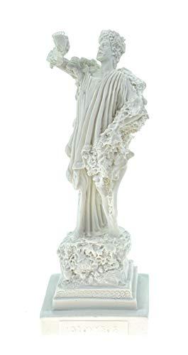 Alabaster Deko Figur Dionysos Gott des Weins 16 cm Skulptur Statue weiß Bacchus