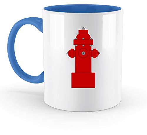 SPIRITSHIRTSHOP - Grifo de bomberos, bomberos, agua, agua de chorro, trabajo, trabajo de ensueño, taza bicolor, Cerámica, azul, 33 0ml