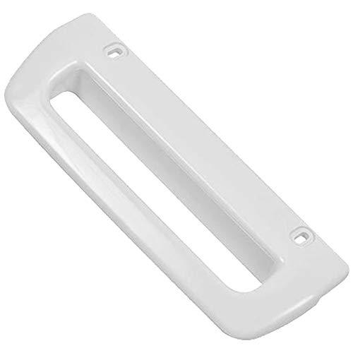 SPARES2GO Door Handle Compatible with Frigidaire FR2911C FV202T FV203T RF2252C RF2802C RF3202C Fridge Freezer (White)