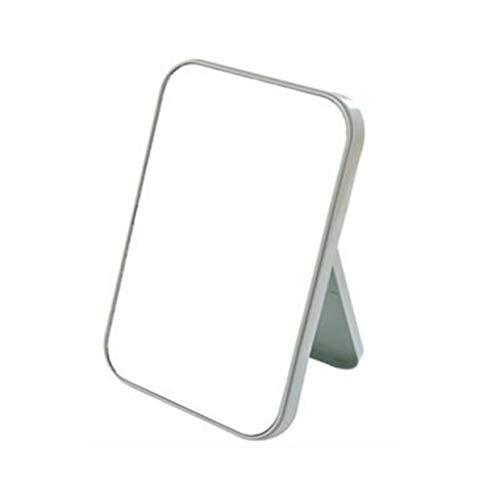 YUIO® Südkorea Liste Gesicht Make-up Spiegel Desktop Großer quadratischer Kosmetikspiegel mit Klappspiegel Tragbarer Prinzessinnenspiegel (Nordic blau)