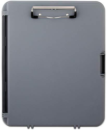 Läufer 00470 WorkMate, Klemmbrett auf Formularkassette, extra Halteklemme im Innenfach, seitlich öffnend, grau, Kunststoff