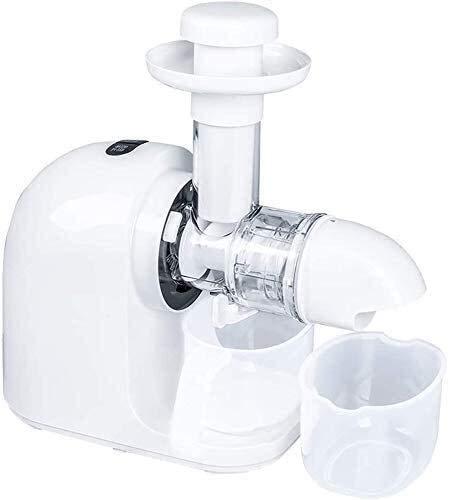 Langsamer Kautersaft, Orangensaft-Extraktor, 150 W 7 70 RPM Full-Food-langsame Kaukalt-Kälte-Presse-Safter mit ruhiger Motor- / Rückwärtsfunktion, um einen maximalen Frischsaft-Ertrag zu gewährleisten