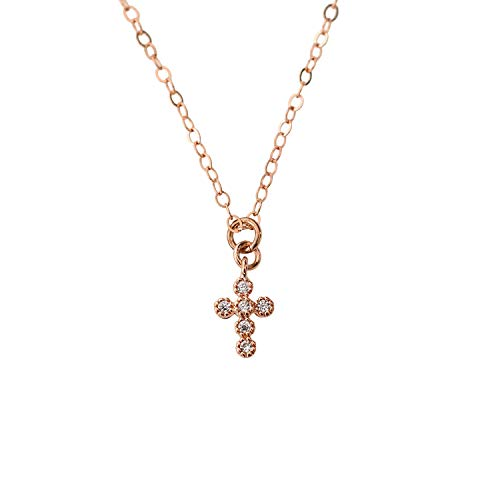 Delicate Tiny Cross Pendant Necklace