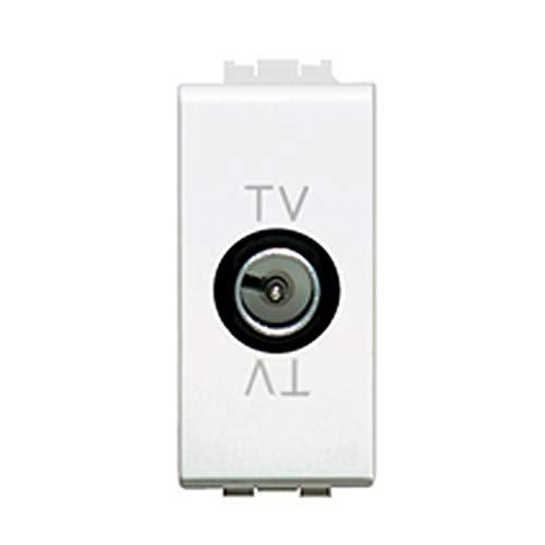 Módulos eléctricos instalación instalaciones compatibles Bticino Linea Matix recambios botones interruptores tomas desviadores inversores (TV trabilla macho - C2214 - TV con trabilla macho - C2214)