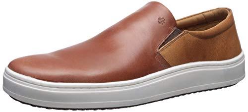 Brothers United Mens Leather Luxury Slip On Venetian Sneaker, Cognac Vintage Calf, 10.5 M US