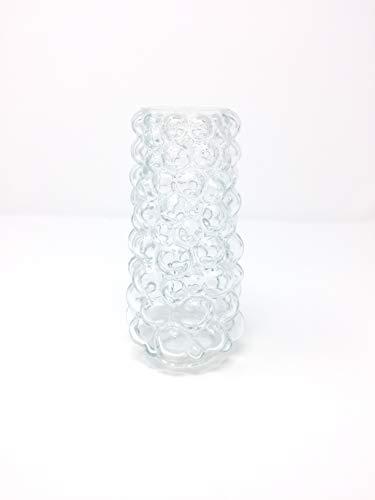 Abat-jour rétro en verre de rechange avec bulles transparentes et trou doré 40 mm E14 (transparent)
