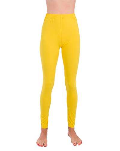 Homma Premium Ultra Soft High Rise Waist Full Length Regular and Plus Size Variety Pack Leggings (3XL/4XL, Yellow)