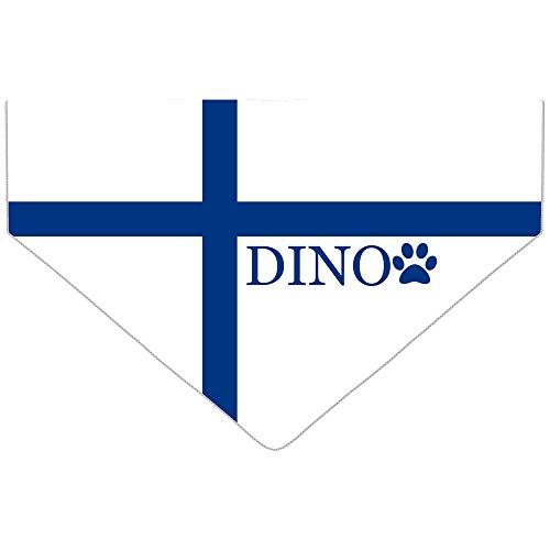 Pañuelo para perro con bandera internacional, personalizable, con nombre y símbolo