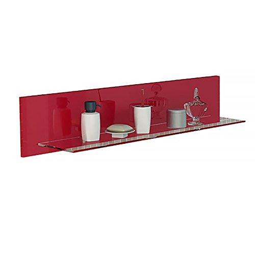 Badmöbel Regal Wandboard in rot hochglanz Badmöbel Zubehör Ablage für Ihr Bad