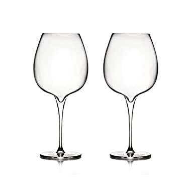 Nambé MT0948 Vie Pinot Noir Wine Glasses, Clear