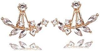 Beautiful Clearance Sale RG Fashion Leaf Crystal Ear Studs