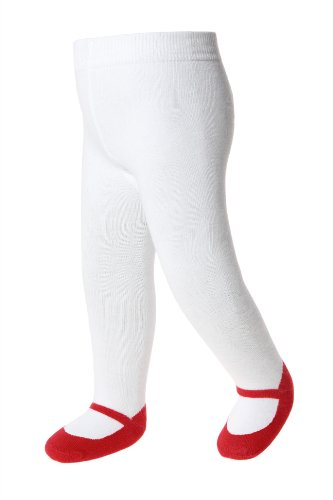 Baby Shoe-Look Tights - Mary Jane - Anti Slip Soles - Cotton-Infant & Toddler Sizes