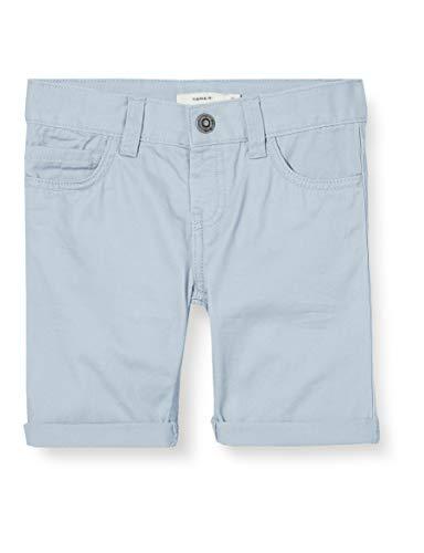 NAME IT Jungen NMMSOFUS TWIISAK Long Camp Shorts, Cashmere Blue, 92