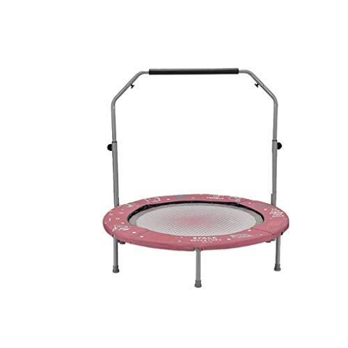 Trampolines plegables con mango de espuma ajustable y almohadilla de seguridad, ejercicio interior al aire libre para adultos entrenamientos de entrenamiento de fitness para niños, carga máxima de 250