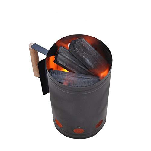 lijunjp Charcoal Chimney Starter, Grillzubehör für den Heimgebrauch, Zündfeuerzeug, Feuerkorb aus verzinktem Stahl, für Campinggrill im Freien