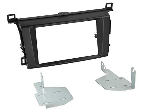 Kit Facade autoradio 2DIN pour Toyota Rav 4 ap13 Noir - ADNAuto