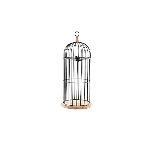 KAIKEA Vintage Bird Cage Decorative Candle Lantern Set Of 1Decorative Pedestal Candle Holders For Pillar Candle For Tabletop Wedding Centerpiece Fireplace Mantel Decor Distressed Black
