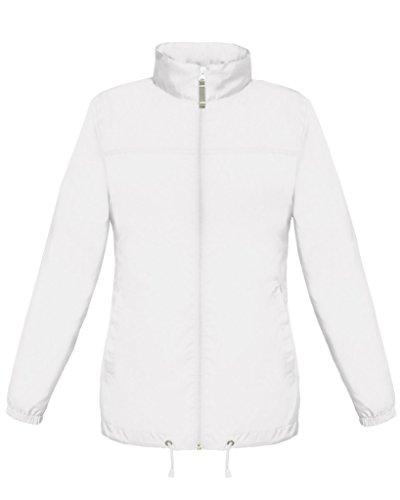B & C pour Femme Sirocco Veste légère imperméable Coupe féminine Poches Parka - Blanc -