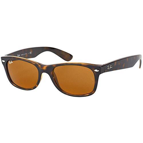 Ray-Ban New Wayfarer - Gafas de sol unisex, color marrón (havana), talla 52 mm