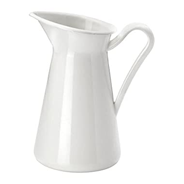 Farmhouse Pitcher Vase, White (8.75 Inch)