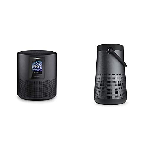 Bose Home Speaker 500 with Alexa Voice Control Built-in, Black & SoundLink Revolve+ Portable and Long-Lasting Bluetooth 360 Speaker - Triple Black