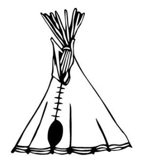 Supersticks Tipi Tent, Indianentent, 15 cm, sticker, autosticker, stickers, decal, muurtattoo, van hoogwaardige folie, uv- en wasstraatbestendig,