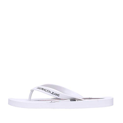 Calvin Klein - Chanclas para hombre Art B4S0678 White Color foto medida a elegir Blanco Size: 42 EU