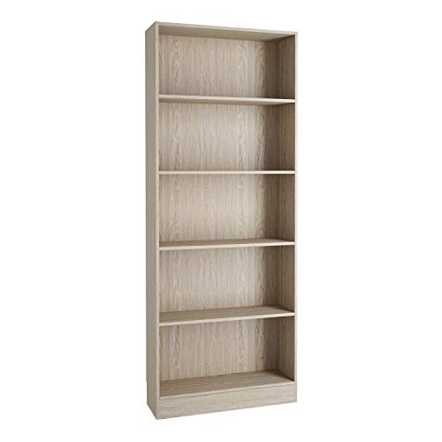 Furniture To Go | Basic Tall Wide Bookcase (4 Shelves) in Oak