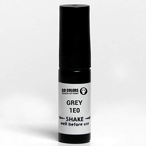 SD COLORS Dunkelgrauer Metallic-Lack 1E0, 5 ml, praktischer Pinsel für die Reparatur von Kratzern