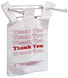 "Hanging Plastic Bag Holder - Holds 11 ½ x 6 x 21"" T-Shirt Handle Bags"