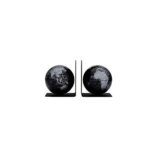 emform - Buchstützen-Set - BOOKGLOBE Black - 13x15 cm