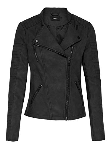 ONLY Female Jacke Leder-Look 38Black