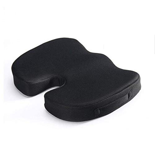 Deer Relax Seat Cushion, Gel Orthopedic Memory Chair Cushion, Foam U-shaped Massage Chair Cushions, for Home Office Comfortable (Color : With Gel, Size : 45x35x7cm)