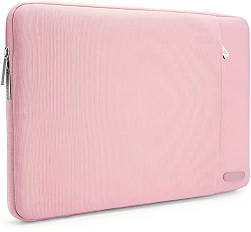 Gahwa Funda Ordenador Portatil 15 Pulgadas, Bolsa pc Portátil Impermeable Anti-rasguños Antigolpes,Funda 14-15 Pulgadas Acolchada per Laptop/Notebook/MacBook/Chromebook - Rosa